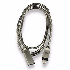 Tough Blindado Metal USB Cable Lightning Cargador para Apple iPhone 5 6 7 Ipad 8 X