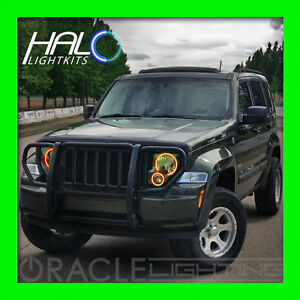 2008-2013 ORACLE JEEP LIBERTY AMBER PLASMA LIGHT HEADLIGHT HALO KIT