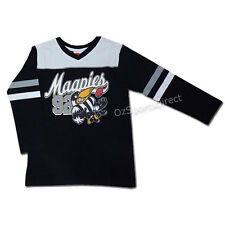 AFL Collingwood Magpies Toddler Script Long Sleeve T Shirt - Size 2 yrs