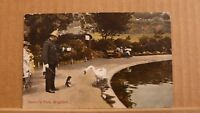 Postcard posted 1907's Sussex, Brighton, Queen's park