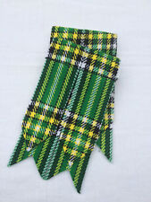 Scottish Irish Green Tartan Kilt Sock Flashes /Kilt Hose Flashes Irish Green