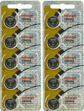 10 MAXELL CR2016 Lithium Batteries. Hologram Package. (Pack of 10) 2016 3V 2022x