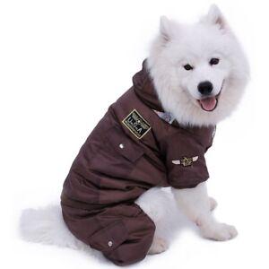 Dog Puppy Coat Pet Clothes Warm Thick Winter Large Jumpsuit For Golden Retriever