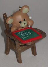 Hallmark Keepsake Ornament Teacher 1987 - Teddy Bear Student with Chalk Board