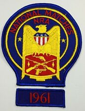 Vintage 1961 National Rifle Association National Matches Shooting Patch Badge c