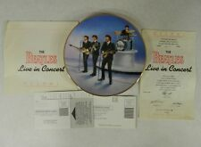 The Beatles Live In Concert Bradford Exchange DELPHI Plate
