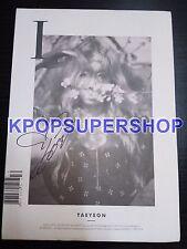 Taeyeon 1st Mini Album I Autographed Signed Promo CD Tae Yeon Girls' Generation