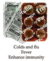 Zandu Trishun Cold & Flu, Fever, Enhance immunity, Relieves Pain, 6 Tablets