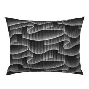 Black White Lines Stars Sky Abstract Waves Art Pillow Sham by Spoonflower
