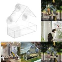 1 x Plastic Clear House Window Bird Feeder Birdhouse With Suction Pet Supplies