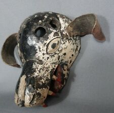 Hand carved Antique Dog Dance Mask from Solola, Guatemala