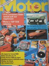 Motor magazine 5/10/1974 featuring VW Scirocco road test, Reliant Scimitar GTE