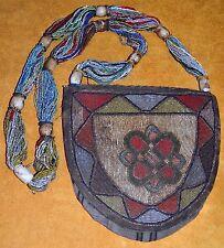Antique Yoruba Seed Beaded Shaman Diviner's Necklace Ceremony Bag Nigeria Africa