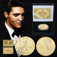 WR Elvis Presley Gold Foil Signed Memorabilia GOLD Coin Birthday Gift Box