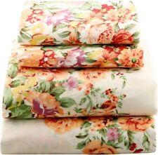 Beautiful Bedding Super Soft Comfort Floral Sheet Set Orange Purple Green