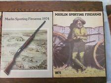 1971 and 1974 Vintage Marlin Sporting Firearms Catalogs Hunting Rifles Shotguns