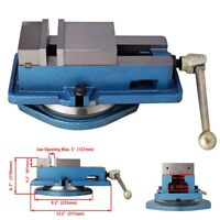 "4"" Milling Machine Lockdown Vise -Swiveling Base High Clamping Power Metal Jaws"