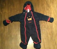 0-3m fall suit onepiece Disney Winnie the Pooh baby warm blue and red