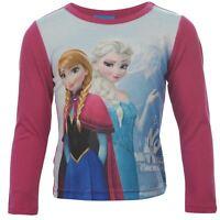 DISNEY t-shirt LA REINE DES NEIGES Anna Elsa 2-3 3-4 5-6 7-8 9-10 ans NEUF