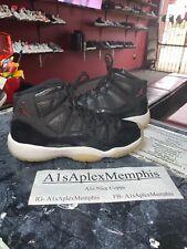 Jordan 11 Retro Bg Black Red White 378038-002 Gs 7Y No Box