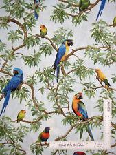 Parrot Jungle Tropical Rainforest Birds Cotton Fabric Fabriquilt Inc By The Yard