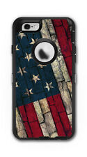Skin Decal Wrap for OtterBox Defender Case Iphone 6/6S American Flag Stone