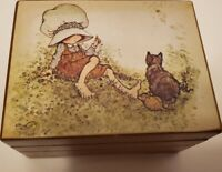 Vintage Edelweiss Music - Box Made in Japan - Child with Cat