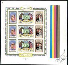 Lesotho 1980 Queen Mother sheet of nine MASTER PROOF