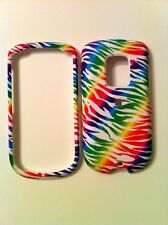 HTC HERO G3 RUBBERIZED MULTI COLOR ZEBRA ON WHITE GROUND COVER NEW