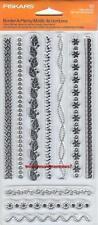 FISKARS Clear Stamps BORDER-A-PLENTY Flower Eyelet