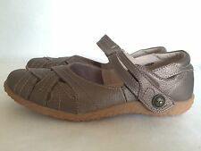 Spring Step Hearts Mary Janes Bronze Leather Women's Shoes Size 42 M 10.5-11  .