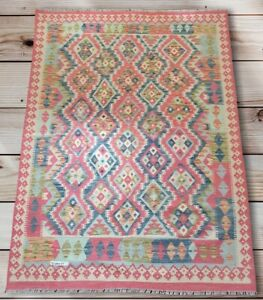 Handmade Afghan Rug/kilim, Modren Miamana Chobi Rug Kilim, Size 204x154 CM