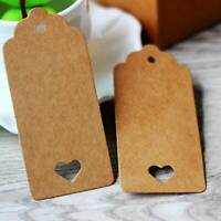 100pc Kraft Paper Gift Tags Scallop Label Luggage Wedding Birthday Blank Card G
