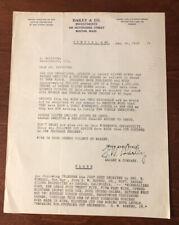 Antique Advertising Letterhead 1925 Dailey & Co Investments Boston Massachusetts