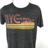 Mens T Shirt Small Retro NYC Gray Hipster Short Sleeve Streetwear Graphic Tee S