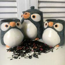 Tea Set Penguin Design - Teapot 500ml and Matching Tea Cups - Japanese Designer