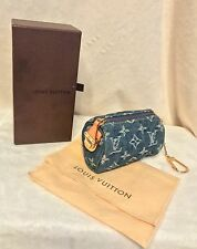 LOUIS VUITTON Mini Speedy DENIM Coin Pouch Cles Key Holder