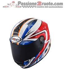 Helmet Suomy Sr sport Indy white red azul casque motorrad integral helm Talla L