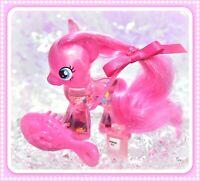 "❤️My Little Pony 3"" Brushable Water Cuties Pinkie Pie Glitter Globe G4❤️"