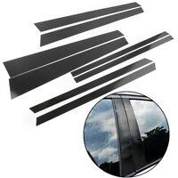 Set Carbon Fiber Car Window B Pillar Trim Cover 8pcs For BMW X5 2014-2018 2017