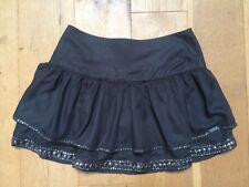 BNWT SUPERDRY TIER EMBLISHED Grey Mini RaRa Skirt @ Size Small NEW
