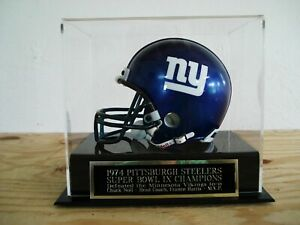 Super Bowl IX Football Mini Helmet Case With A Pittsburgh Steelers Nameplate