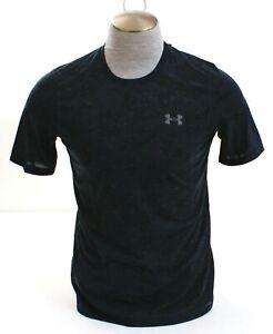 Under Armour UA Threadborne Siro Black Printed Short Sleeve Shirt Men's NWT