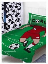 FOOTBALL SINGLE DUVET SET RED PLAYER BEDDING BED SET