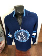 MENS XLarge Football Zip Neck Knit Pullover Sweater CFL Toronto Argonauts NEW