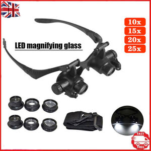 Replaceable Magnifier Magnifying Eye Glass Loupe Jeweler Watch Repair Parts Kit