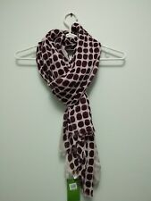 NWT kate spade new york seaglass dots oblong scarf midnight wine