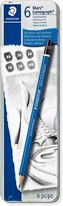 Staedtler Mars Lumograph Pencil Set of 6