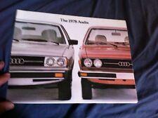 1978 Audi 4000 and 5000 USA Market Color Brochure Catalog Prospekt