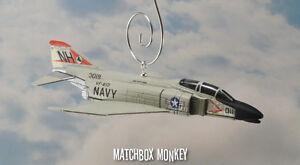 F-4B Phantom II US Navy VF-213 Christmas Ornament  Airplane F-4 USS Kitty Hawk